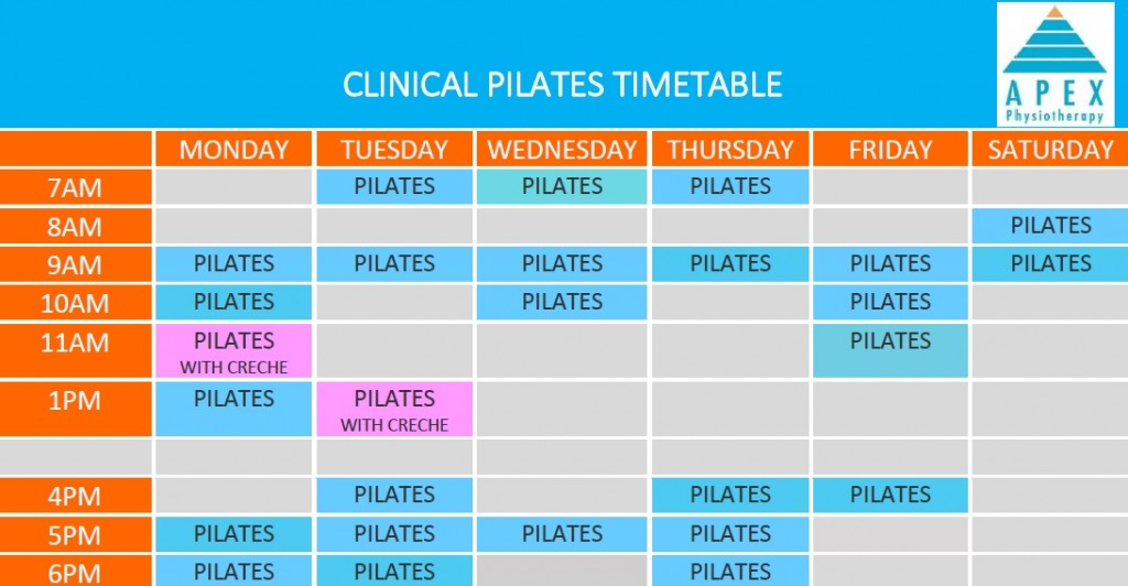 Pilates Timetable